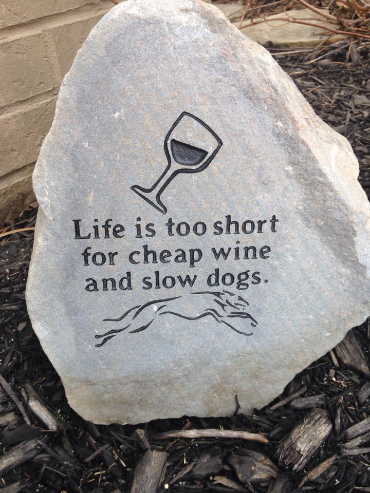 life is too short for cheap wine and slow dogs