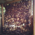 wood shed off the grid